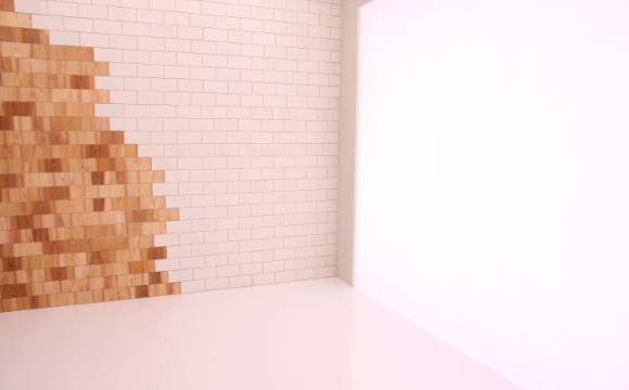 光壁のスタジオ写真